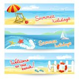 Three summer sea banners Royalty Free Stock Image