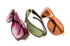 Three sun glasses Stock Photos