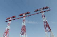 Three support power lines Royalty Free Stock Photography