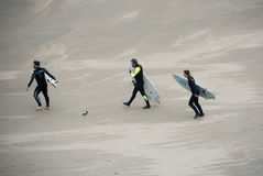 Three Surfers Stock Images
