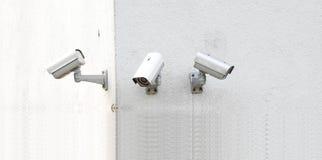 Three surveillance cameras Stock Image