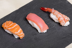Three sushi Stock Images