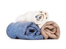 Three sweaters Stock Images