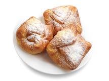 Three sweet buns Stock Image