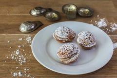 Three sweet cookies Stock Photography
