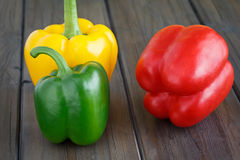 Three Sweet Pepper Royalty Free Stock Images