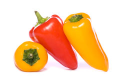 Three Sweet peppers cutout Royalty Free Stock Photo