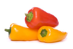 Three sweet peppers Royalty Free Stock Photo