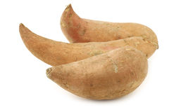 Three sweet potatoes Royalty Free Stock Photography