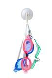 Three swimming goggles Stock Image
