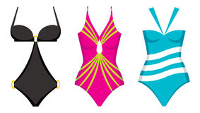 Three swimming suits Stock Photos