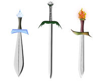 Three swords Stock Photos