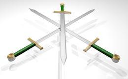 Three swords Stock Photography
