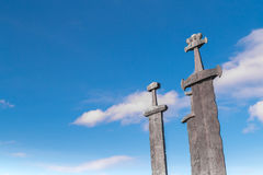 "The three swords. ""Sverd i Fjel"", Stavanger, Norway Stock Photos"