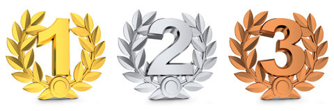 Three symbol winner Stock Photography