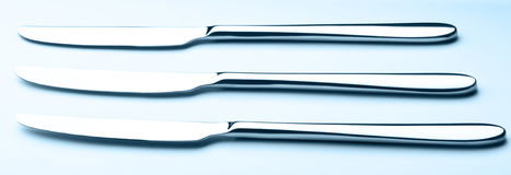 Three table knives Stock Photography