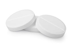 Three tablets aspirin  Royalty Free Stock Image