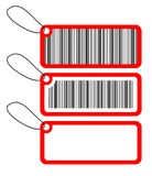 Three tags wit bar-code royalty free illustration