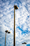 Three Tall Flood Lights Royalty Free Stock Photography