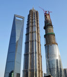 Three tallest building in Shanghai Stock Photos