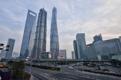 Three Tallest Buildings in Shanghai Stock Image
