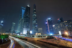Three Tallest Buildings in Shanghai Stock Photography