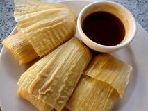 Three Tamales Stock Photography