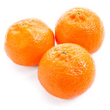 Three tangerine isolated on a white background Stock Photo