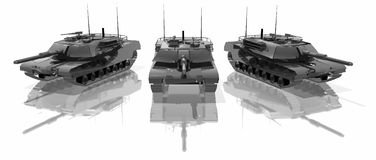 Three tanks Stock Images