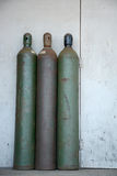 Three tanks. Three larg tanks like the industrial tanks used.for gases Royalty Free Stock Images