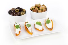 Three Tapas Royalty Free Stock Photography