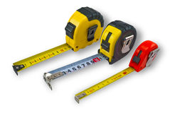Three tape measure Stock Images