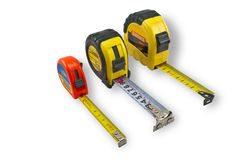 Three tape measure Royalty Free Stock Photos