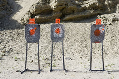 Three Targets At Firing Range Stock Photo