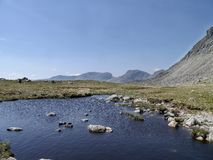 At the Three Tarns area between Crinkle Crags and Bowfell Royalty Free Stock Photography