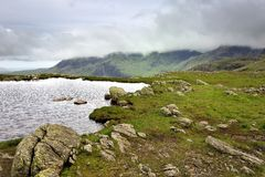 Three Tarns. The Three Tarns to Scarfell Royalty Free Stock Image