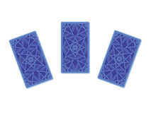 Three tarot cards reverse side Stock Photo