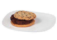 Three tasty cookies Stock Photography