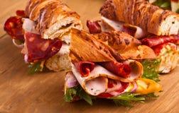 Three tasty sandwiches Stock Photo
