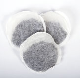 Three tea bags. Together isolated on a white background Royalty Free Stock Photos