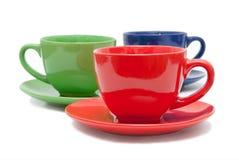 Three tea cups Royalty Free Stock Image