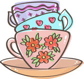 Three teacups Royalty Free Stock Images
