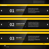Three techno banners with numbers and text. EPS10 Royalty Free Stock Photography
