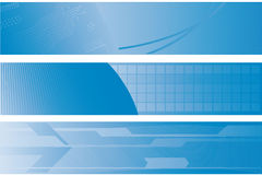 Three technology banners stock illustration