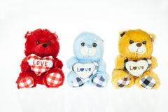 Three Teddy bear Stock Photography