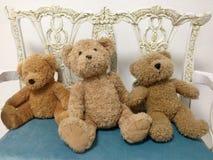 Three teddy bear Royalty Free Stock Photography