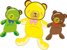 Three teddy bears Stock Image