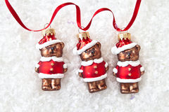 Three teddybear ornaments Stock Photography