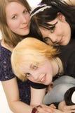 Three teen girls Royalty Free Stock Image