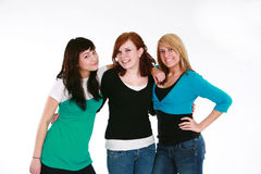 Three teen girls Royalty Free Stock Image